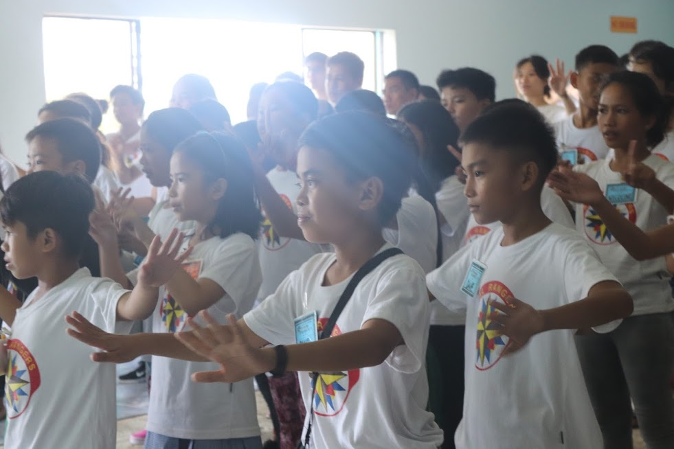 Mass games at Bacolod camp
